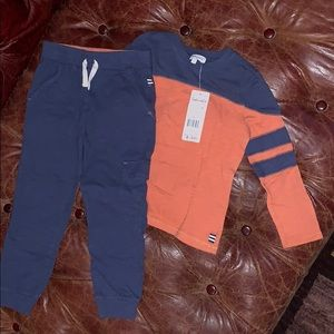 NWT Splendid marching pants and shirt set 4t